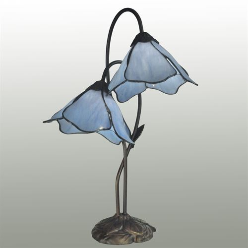 Peolking Twin Blue Lily Accent Lamp Medium Blue