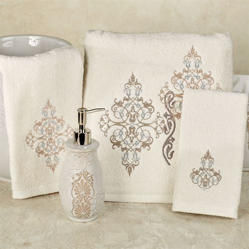 Galileo Bath Towel Set Ivory Bath Hand Fingertip