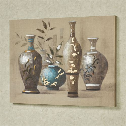 Oriental Impressions Canvas Wall Art Multi Earth