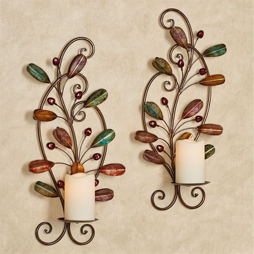 Candelaria Wall Sconces Multi Jewel Set of Two