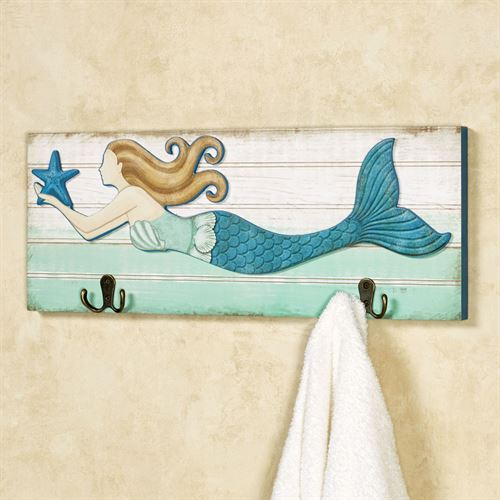 Mermaid Wall Hook Plaque Multi Cool