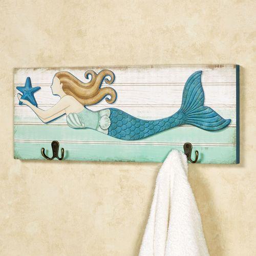 Mermaid Wall Hook Plaque Multi Cool
