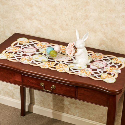 All Over Easter Eggs Table Runner Multi Pastel 16 x 36