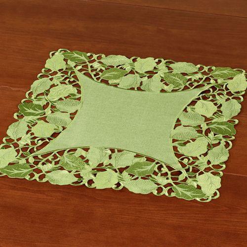 Foliage Green Small Table Topper Peridot 20 Square