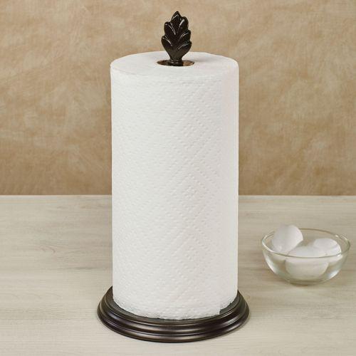 Leaf Paper Towel Holder Bronze