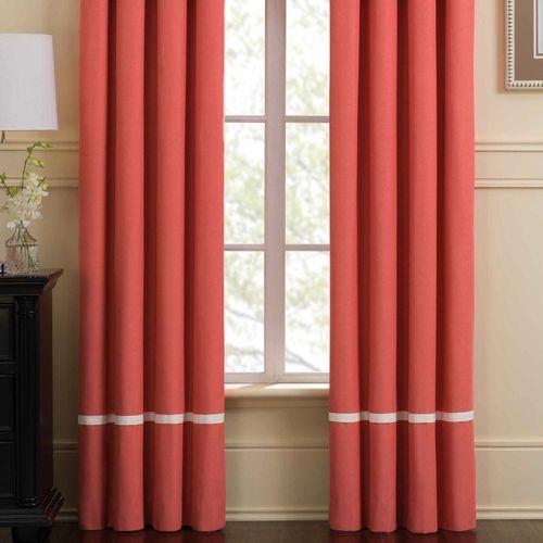 Ariana Tailored Curtain Pair Coral 84 x 84