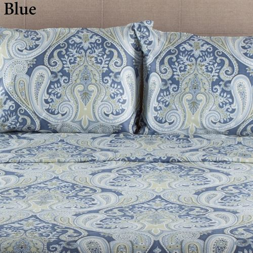 Blue Paisley Sheets