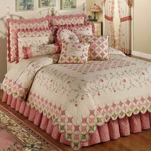 Coras Garden Quilt Set Ivory