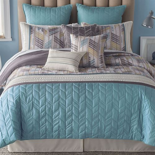 Zabriskie Point Comforter Bed Set Aqua