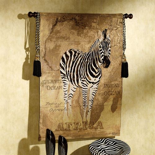 African Voyage II Zebra Wall Tapestry