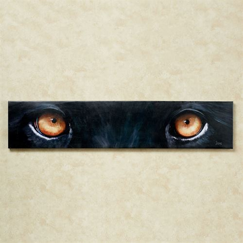 Panther Eyes Canvas Wall Art Black
