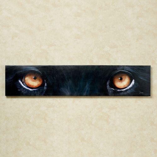 Panther Eyes Canvas Wall Art Black