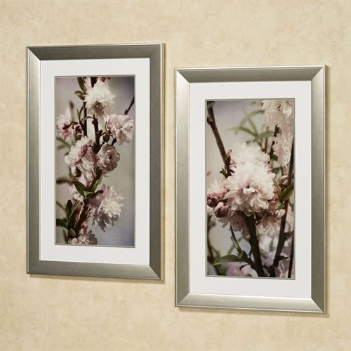 Blooming Almond Framed Wall Art Multi Pastel Set of Two