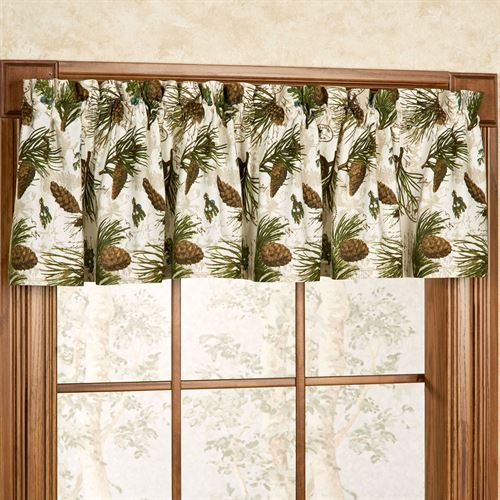 Walk in the Woods Tailored Valance Multi Earth 72 x 14