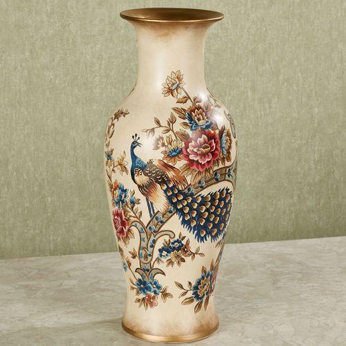 Siroun Peacock Decorative Vase Golden Yellow