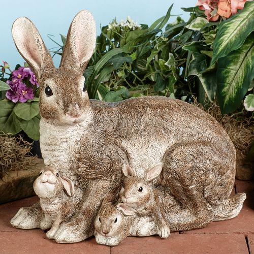 Prideful Family Rabbit Sculpture Multi Warm