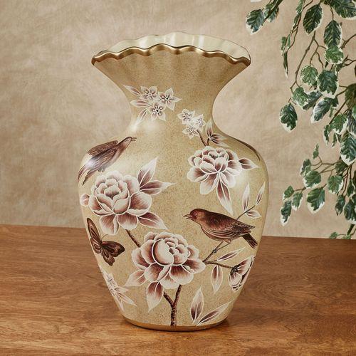 Busy Birds Table Vase Cream