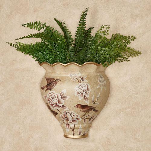 Busy Birds Floral Decorative Wall Pocket Vase