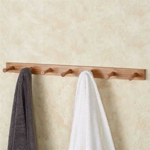 Crockett Wall Peg Rack Bamboo 7 Hook