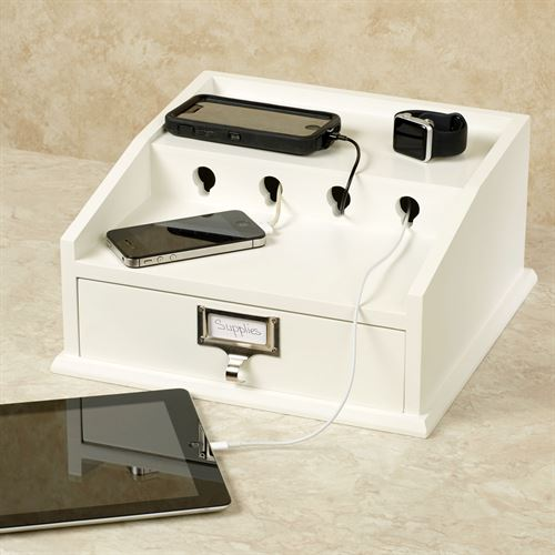 Electronic Device Recharge Station White