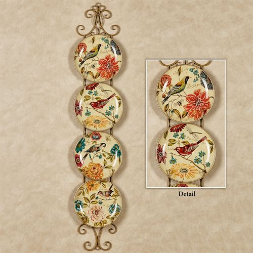 Kestrel Birds Decorative Plates Cream Set of Four