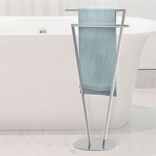 Double Towel Stand Chrome