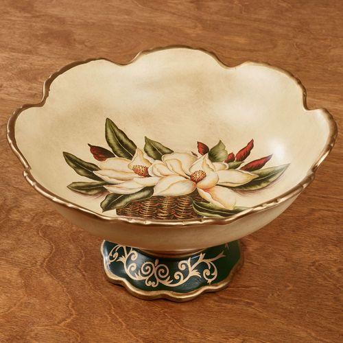 Magnolia Centerpiece Bowl Ivory