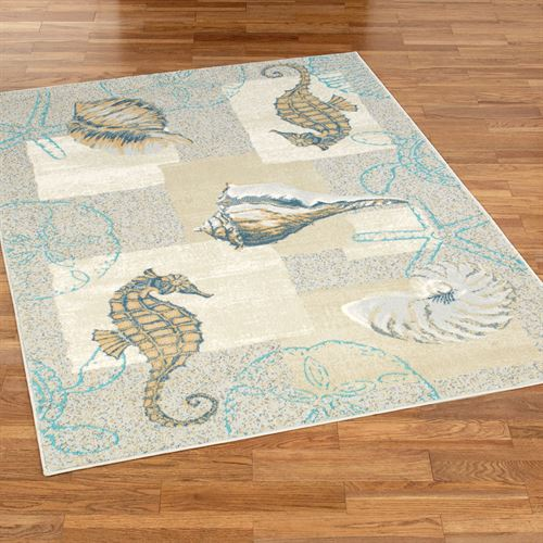 Mystic Sea Rectangle Rug Natural