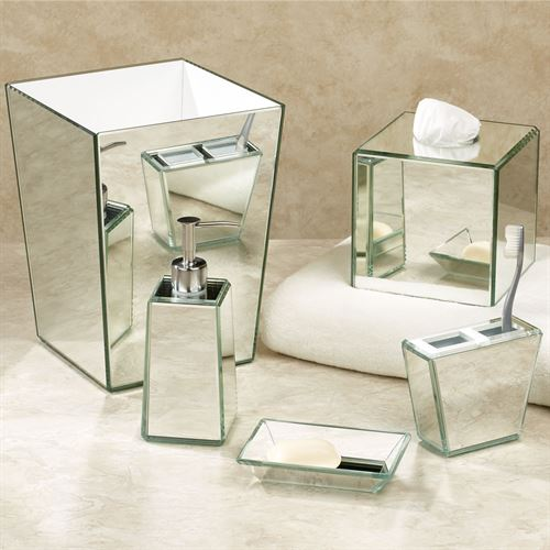 Crystal Mirror Lotion Soap Dispenser Silver