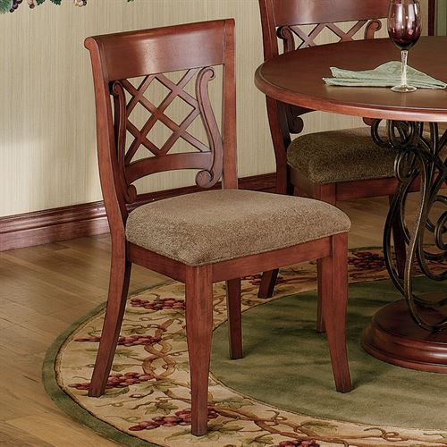 Delancey Eldridge Wood Chair Pair  Set of Two