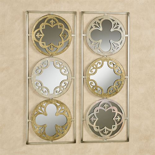 Rheanne Mirrored Wall Art Gold/Iridescent Set of Two
