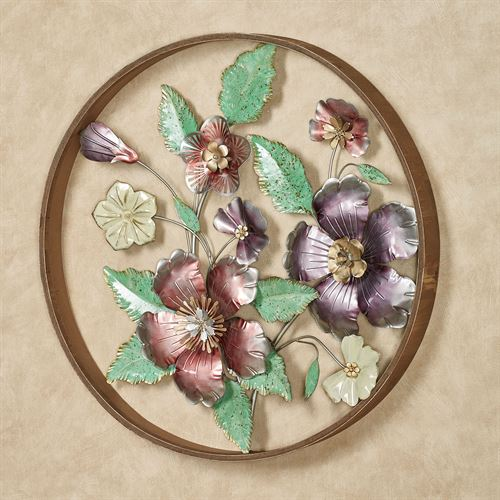 Circle of Blooms Floral Wall Art Multi Pastel
