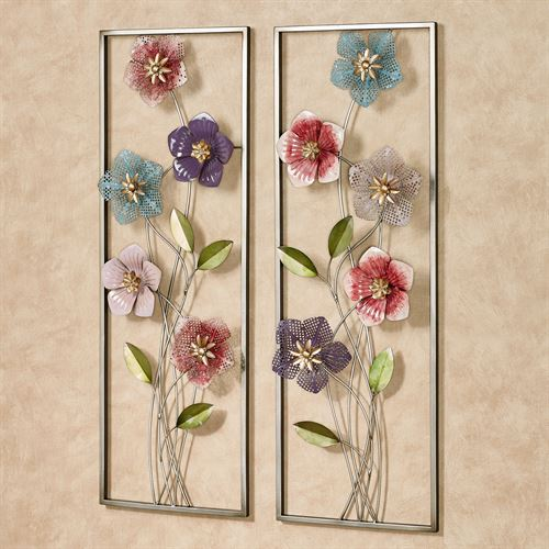 Blooms of Spring Floral Metal Wall Art Set