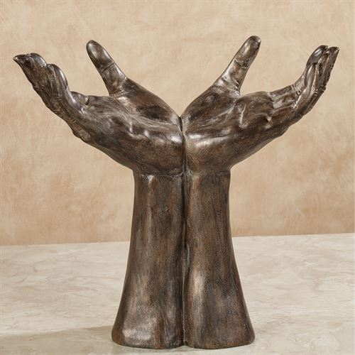 World in His Hands Table Sculpture Weathered Bronze