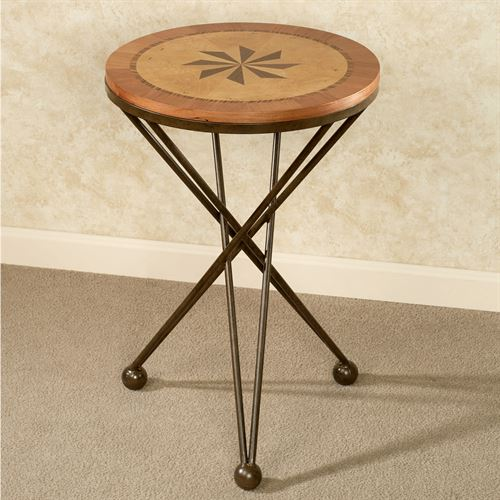 Northern Star Round Accent Table Pecan