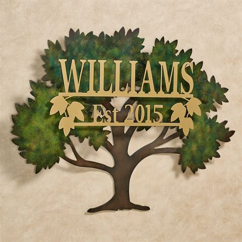 Family Tree Personalized Wall Art Green