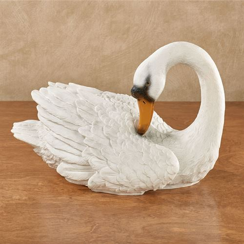 Sophisticated Swan Table Sculpture White