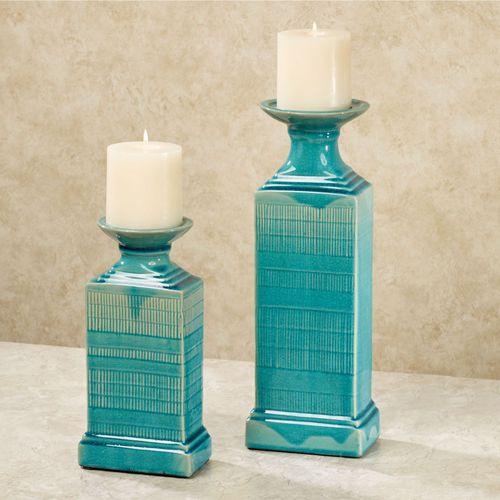 Neela Candleholders Blue Set of Two