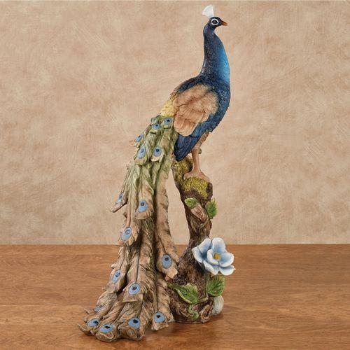 Royal Beauty Peacock Table Sculpture Indigo
