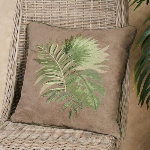 Camden Tropical Leaf Decorative Pillow Sand 18 Square