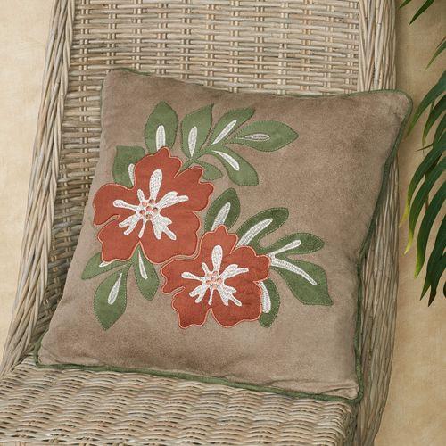 Camden Tropical Floral Decorative Pillow Sand 18 Square