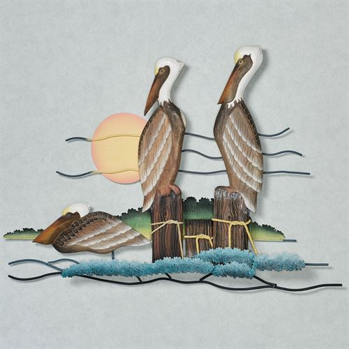 Pelican Trio Wall Sculpture