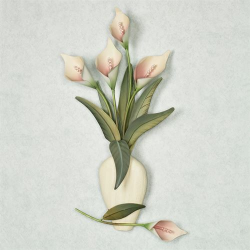 Calla Lily Vase Wall Sculpture