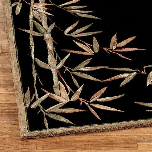 Bamboo Rug Runner Black 26 X 10
