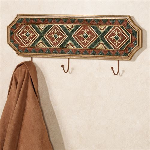 Tribal Spirit Wall Hook Rack Multi Earth