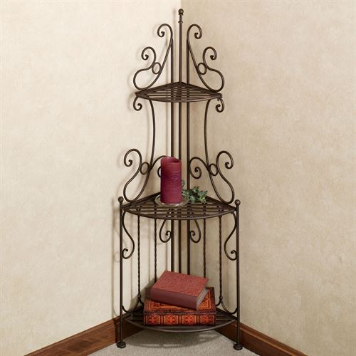 Carabella 3 Tier Corner Etagere Antique Bronze