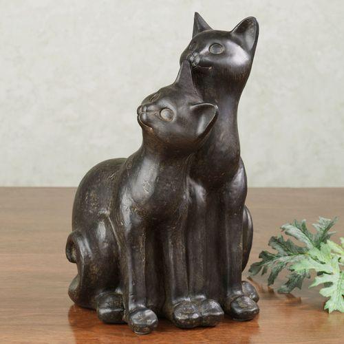 Mischief Makers Cat Sculpture Bronze