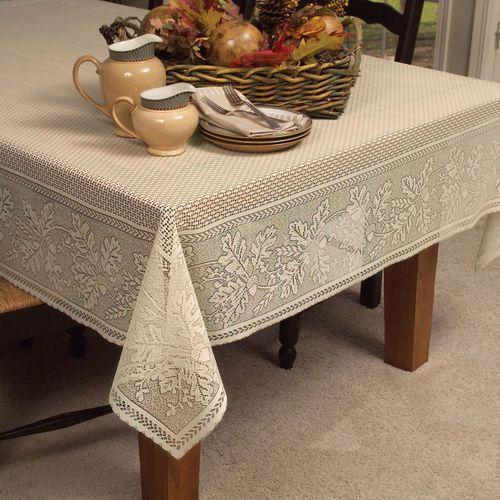 Leaf Harvest Oblong Tablecloth Straw