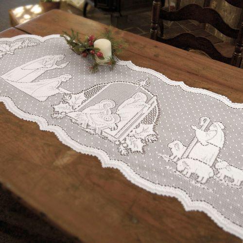 Holy Family Table Runner White 14 x 41