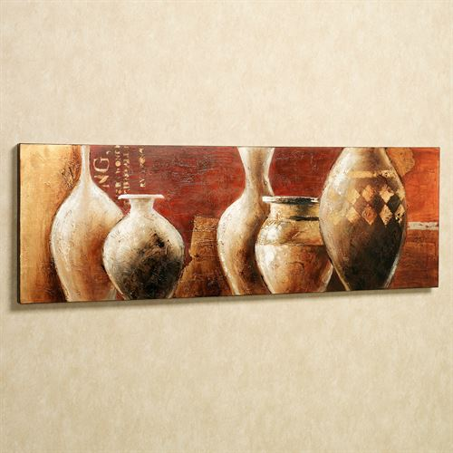 Tuscan Earthenware Canvas Wall Art Red